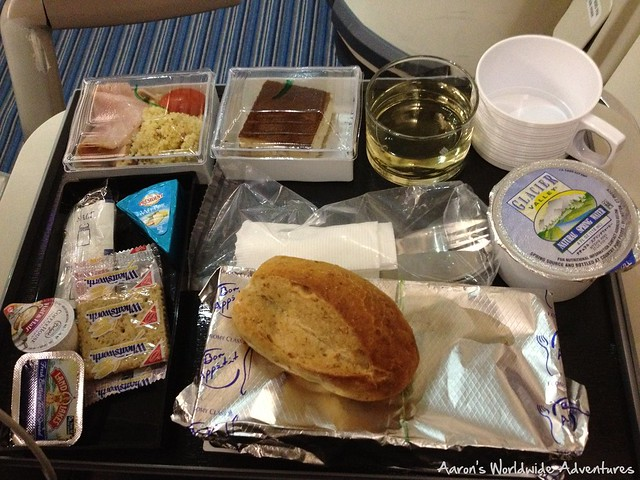 Singapore Airlines Economy Dinner