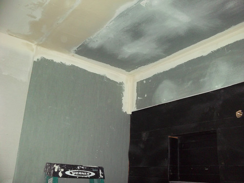 Bathroom Remodel, Day 14: Mudding and Taping