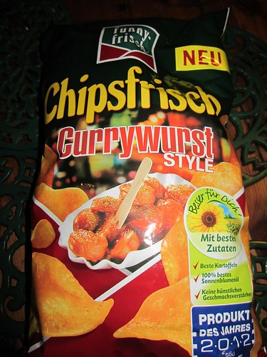 Currywurst crisps