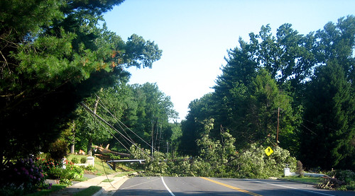 20120630 0748 - storm damage while yardsaleing - Sleepy Hollow Rd. blocked (south side) - IMG_4492