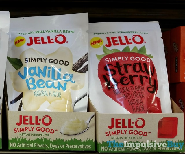 Jello Simply Good Vanilla Bean Instant Pudding Mix and Strawberry Gelatin Dessert Mix