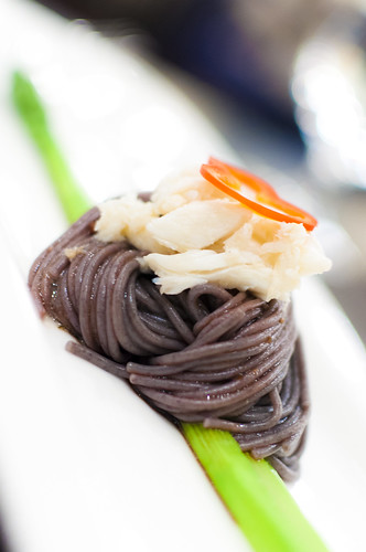 Black Rice Noodle Served Cold in Balsamic Vinaigrette