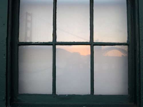 As the sun sets, so does this reflection of the Golden Gate Bridge by nicolecwong