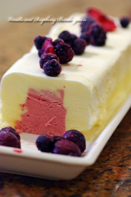 Vanilla and Raspberry Bombe Glacée