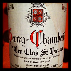 Domaine Fourrier Gevrey-Chambertin Clos St. Jacques 1998