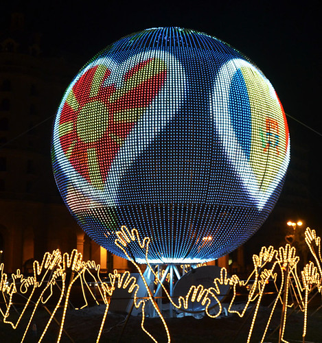LED sphere strip P50 3 by soft flexible LED vision curtain display