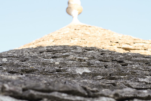 Close-up of a trullo's stone roof, Alberobello, Puglia