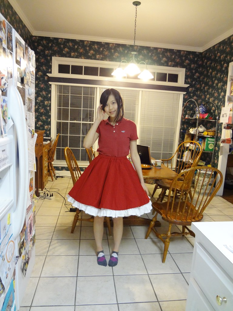 with petticoat
