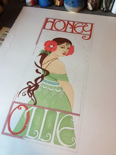 In Progress Honey&Ollie sign