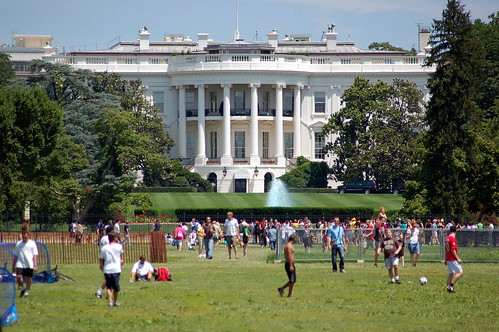 Soccer in front of White House by alexschreyer