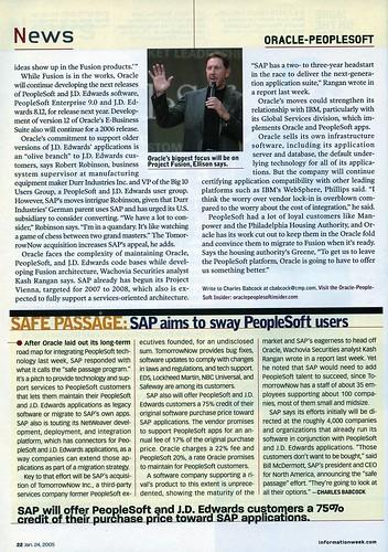 InformationWeek Oracle Article