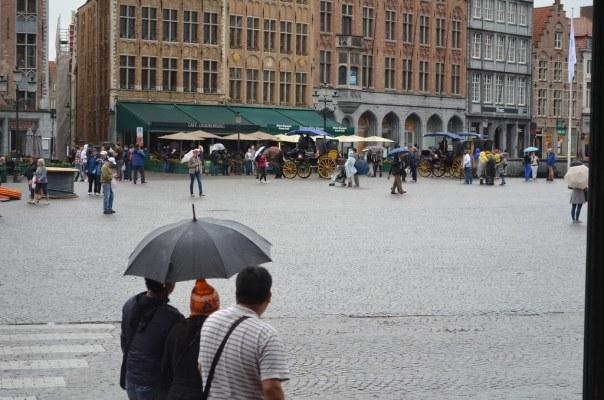 Umbrella and a hat