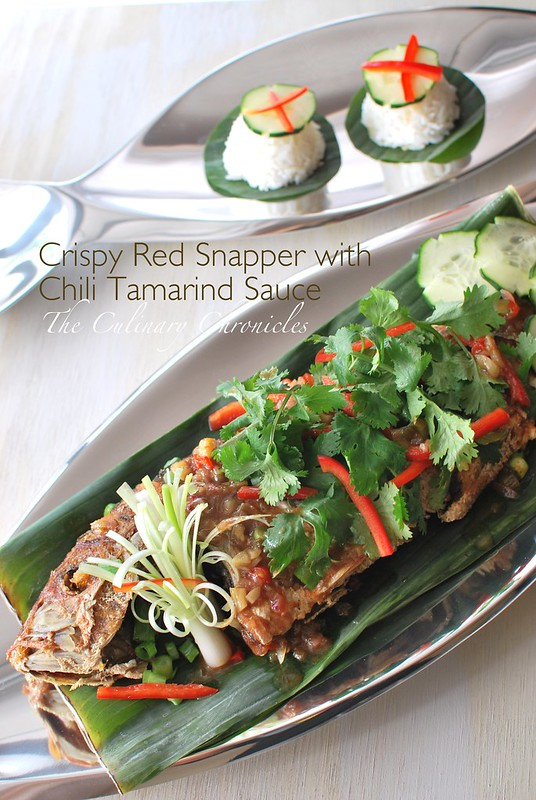 Crispy Red Snapper with Chili Tamarind Sauce