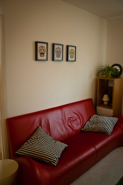 Sugar Skull Triptych - The Living Room