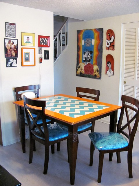 My moment: My dining room. Best place in the house. There may only be 4 chairs, but that doesn't limit the guests.