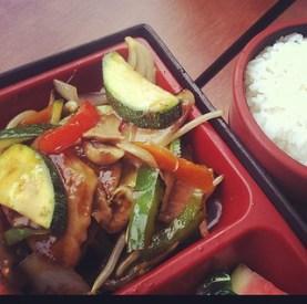 Tuna, veggies, rice...