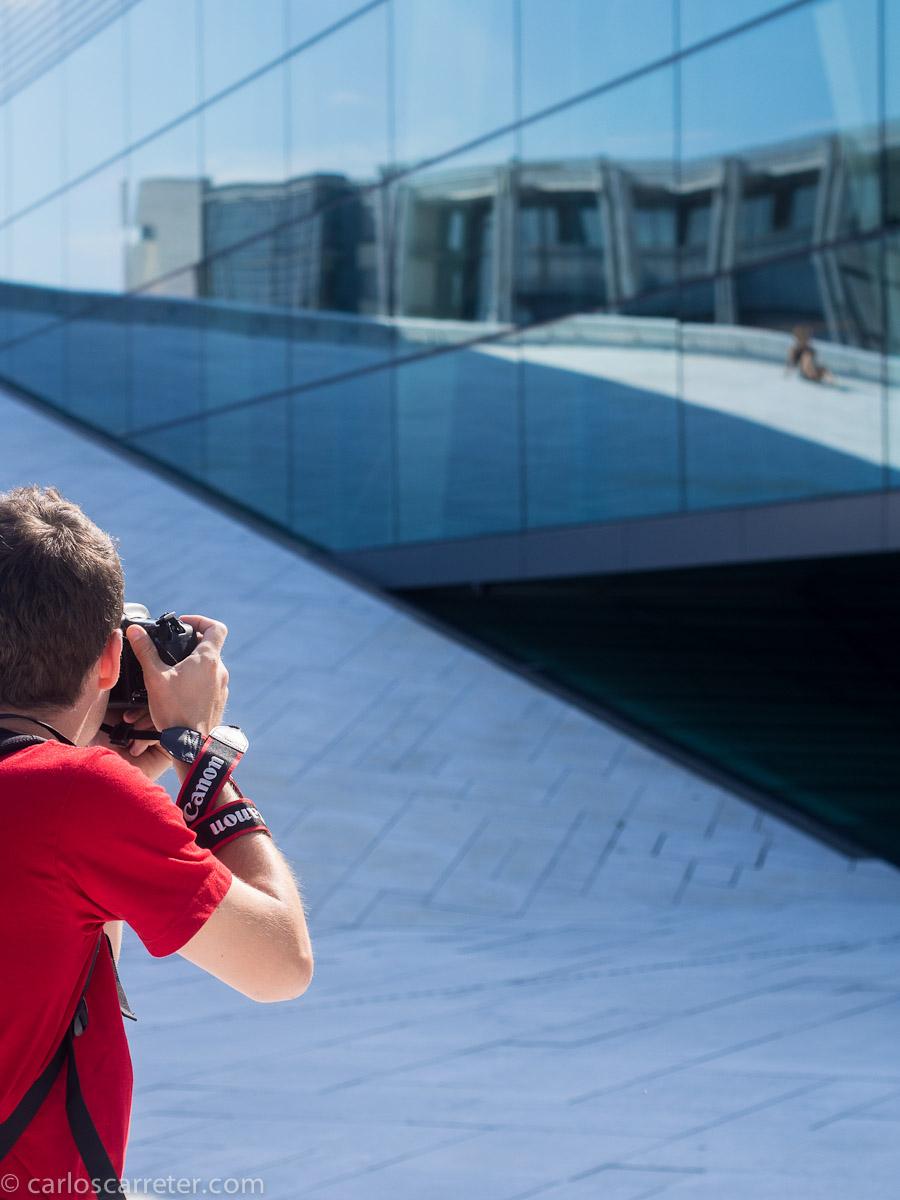 Fotos en el edificio de la Opera y el Ballet de Noruega