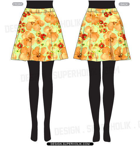 Women's skirt template
