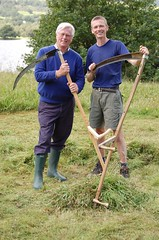 John Craven, BBC Countryfile & Steve Tomlin, scythe tutor