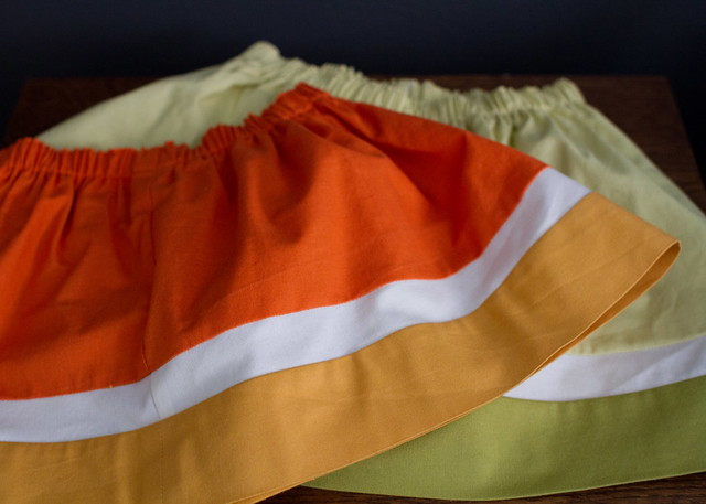 fruit stripe skirt tutorial
