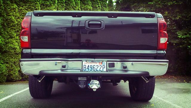 exhaust on the silverado