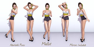 Adorkable Poses:  Maillot