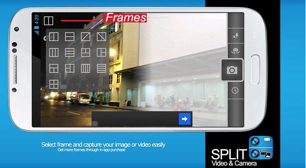 split video and camera frames