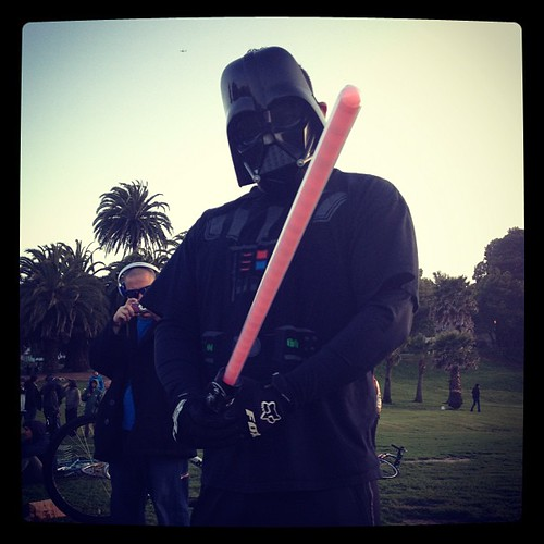 Darth Vader rides bike party #sfbp