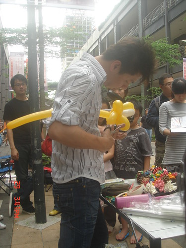 氣球造型編織_街頭藝人6