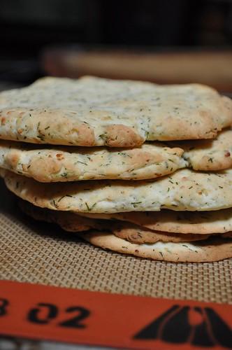 GF Feta & Dill dough - made into pitas