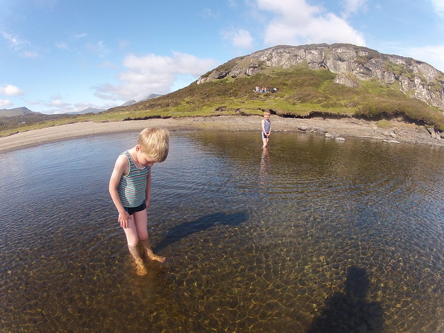 Our two boys trying out Toftavatn
