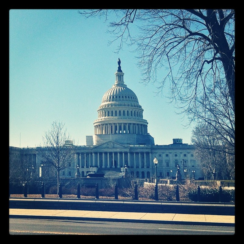 The Capitol building on a cold D.C. morning (Instagrammed photo)- February 2012