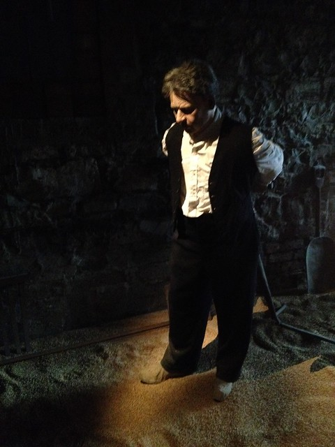 Miniature display with man and barley - The Old Jameson Distillery