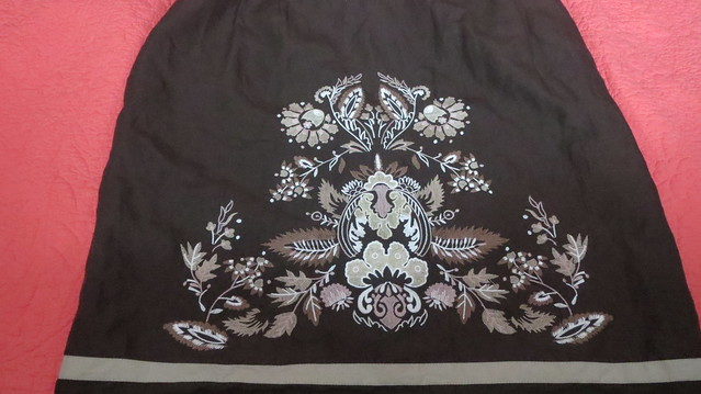 embroidery on skirt