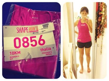 shape run 2012 racepack