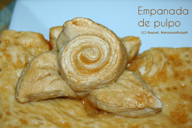 Detalle de decoración de empanada