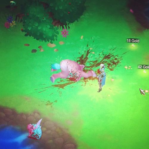 Poor explodey unicorn.