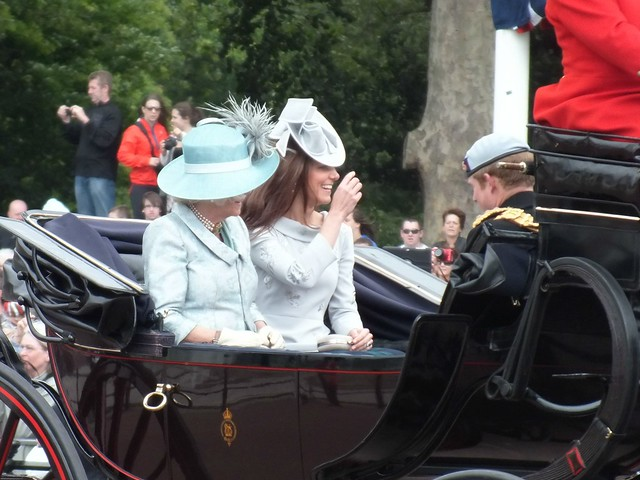 Camilla Parker Bowles, Kate Middleton and Prince Harry for Trooping of the colour