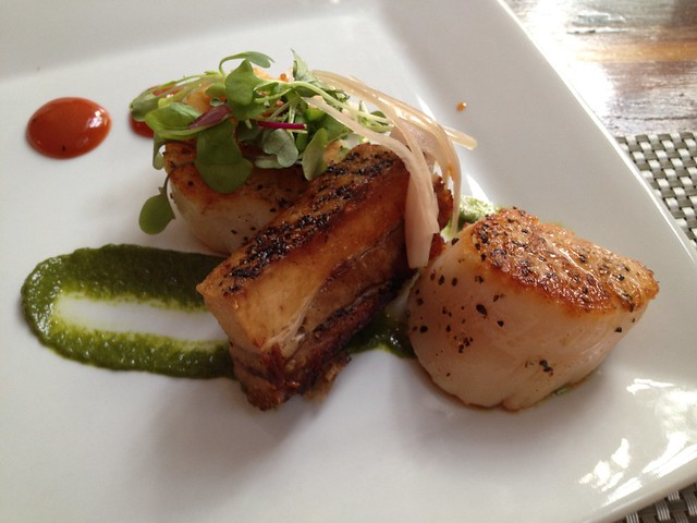 Scallop and pork belly - Poogan's Porch