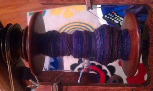 Tour de Fleece day 6 spinning by Miss Knotty