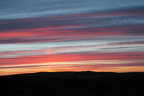 sunset at haytor