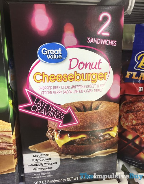 Great Value Late Night Cravings Donut Cheeseburger