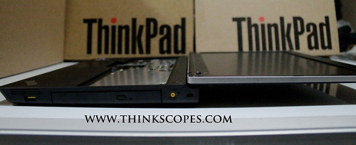 ThinkPads Edge E520 with fully opened screen