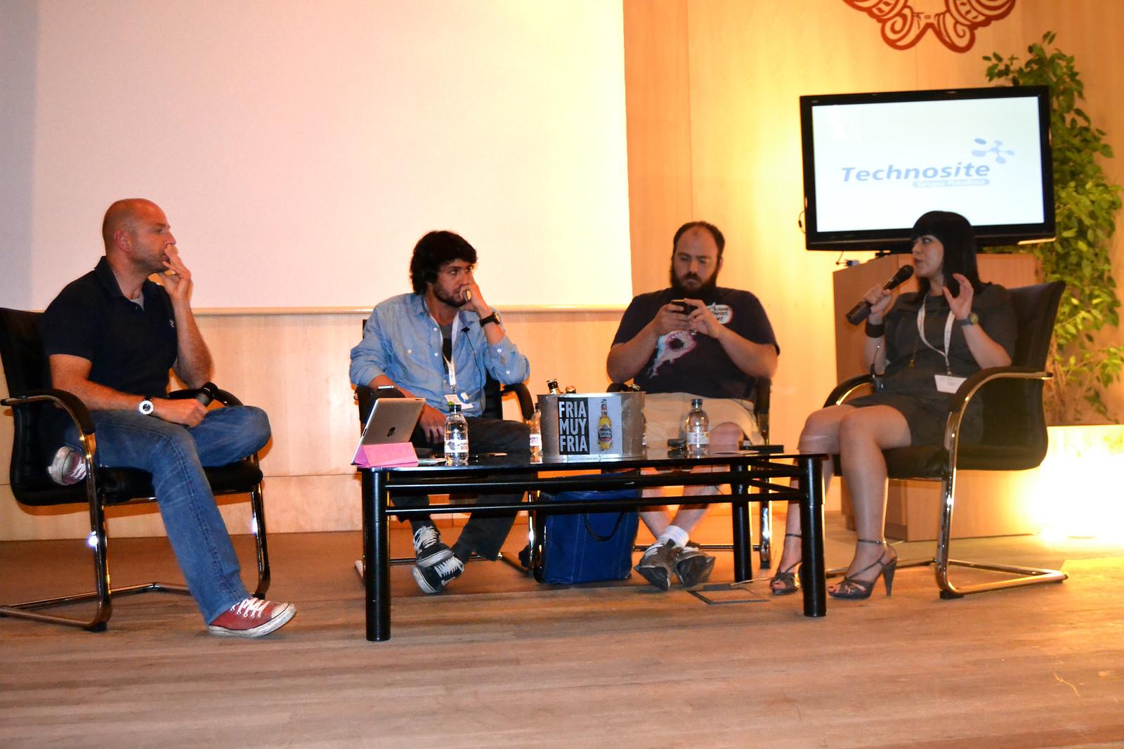 Juan Leal, Jesús Gorriti, Sergio Álvarez y Margarita Barrera en el UxSpain