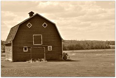 Barn in the praries
