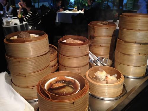 飲茶ランチ。6種類のセイロから選べます。@中国料理 龍天門