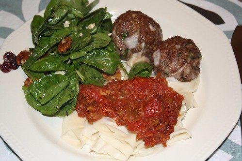 Ad Hoc Meatballs w/Oven Roasted Tomato Sauce & Papperdelle