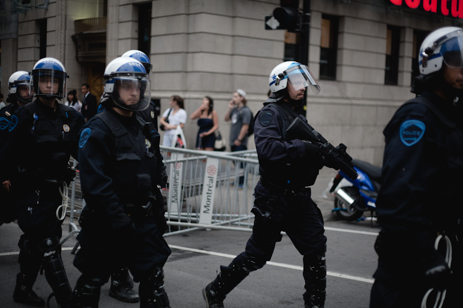 Manifestation contre la brutalité policière [photos Thien V]