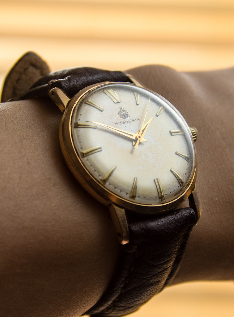 Huguenin Vintage Watch - wristshot