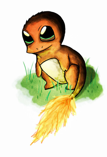 Charmander On Grass